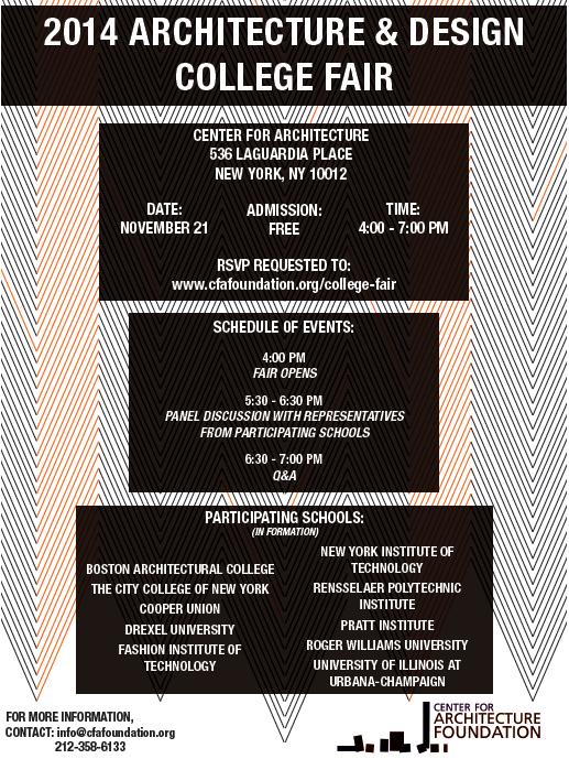 Architecture College Fair Poster