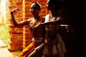 Surupa Sen and Bijayini Satpathy, the principal dancers of India's world-renowned Nrityagram dance troupe