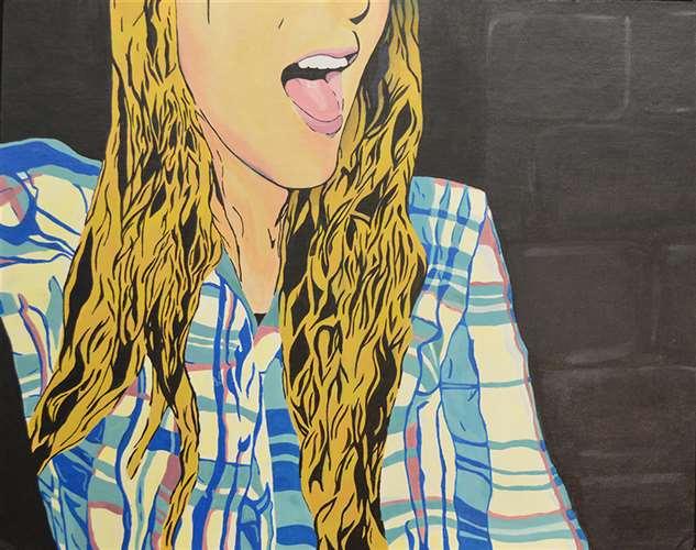 Shemish by Emma Burekhovich, Silver Key, Painting, 12th Grade, Yeshivah of Flatbush Joel Brave